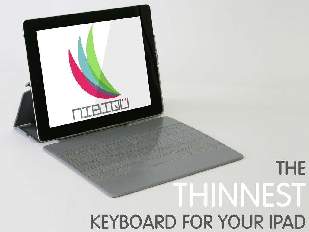 NIBIQÜ, ultra-thin keyboard for your iPad (Canceled)'s video poster