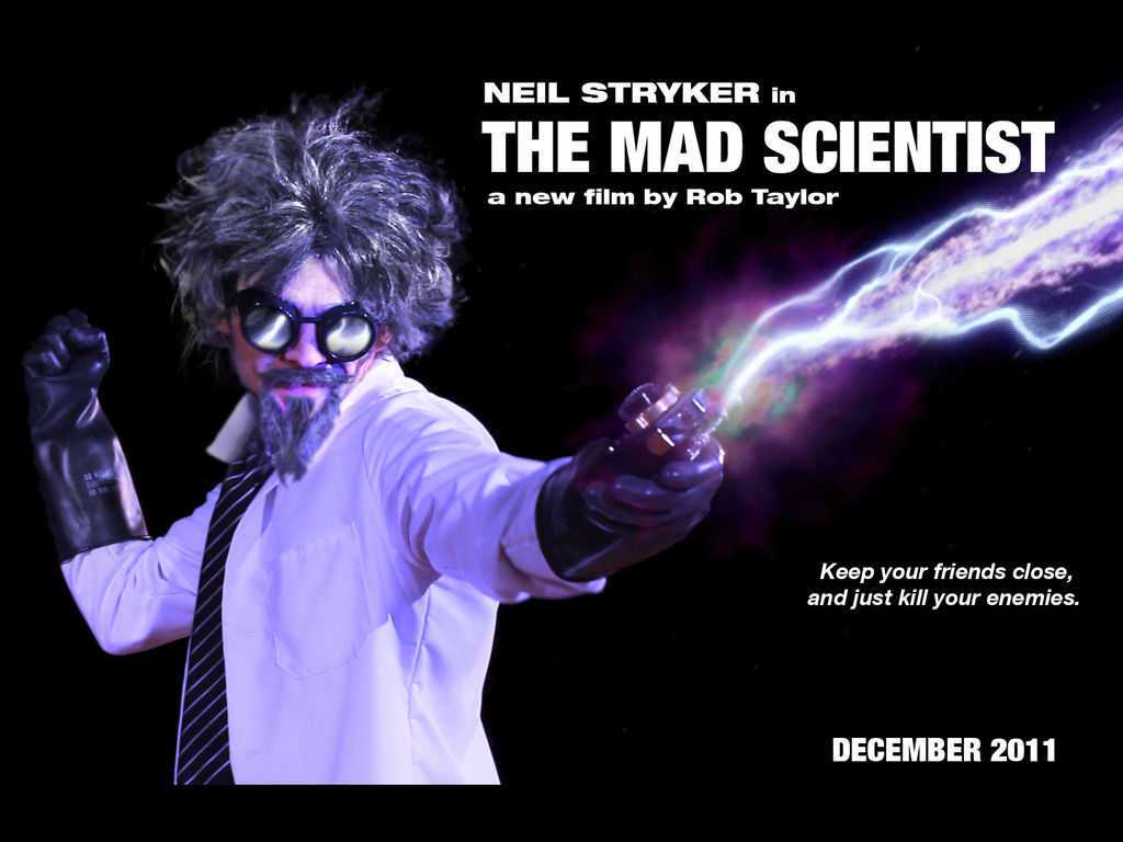 The Mad Scientist: a feature film's video poster