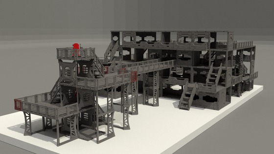 Maki-Games new modular scifi plastic terrain on Kickstarter