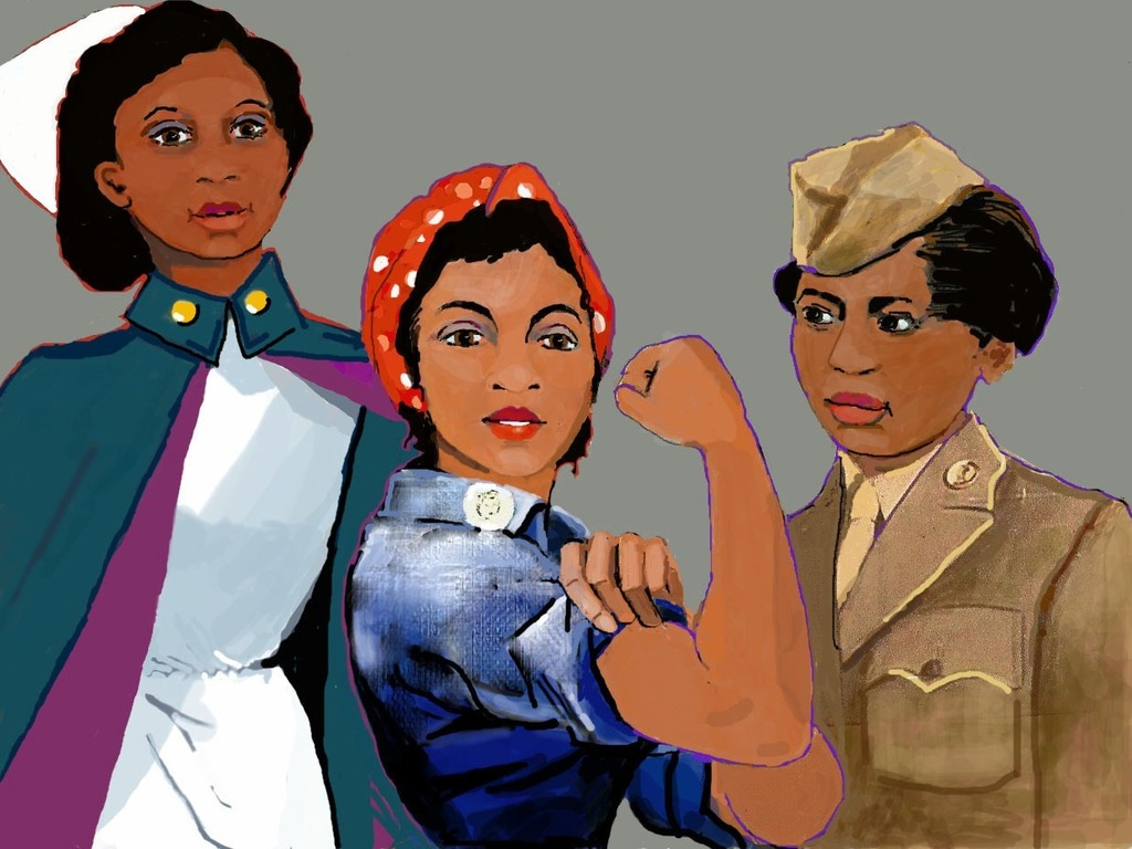 Invisible Warriors:  African American Women in World War II's video poster