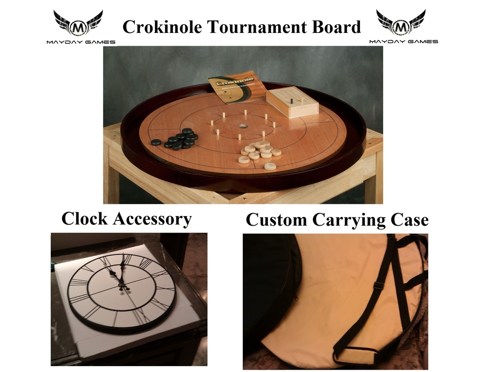 crokinole game amp accessory clockcarrying case project