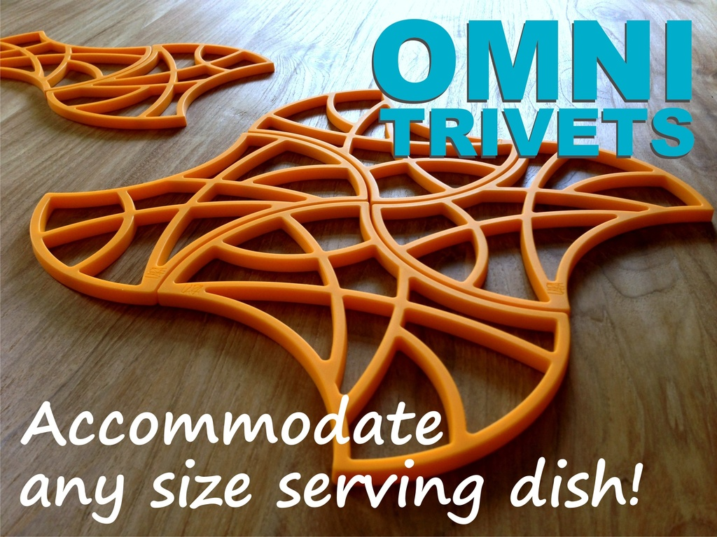 OMNI TRIVETS accommodate any size serving dish!'s video poster