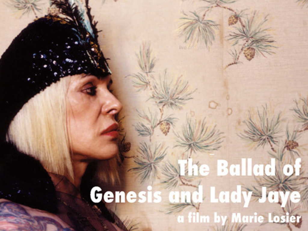 Ballad of Genesis and Lady Jaye's video poster
