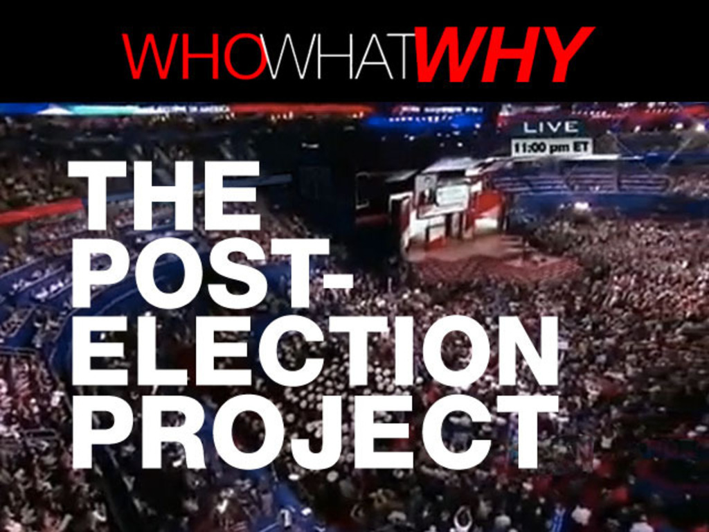 WhoWhatWhy: The Post-Election Project's video poster