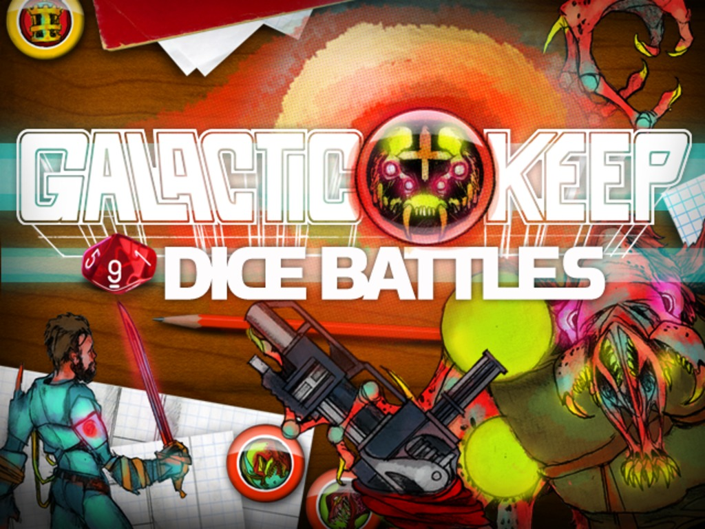 GALACTIC KEEP: DICE BATTLES A Tabletop RPG on PC & iOS's video poster