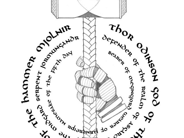 Mjolnir Hammer Of Thor Viking God Of Thunder By Todd