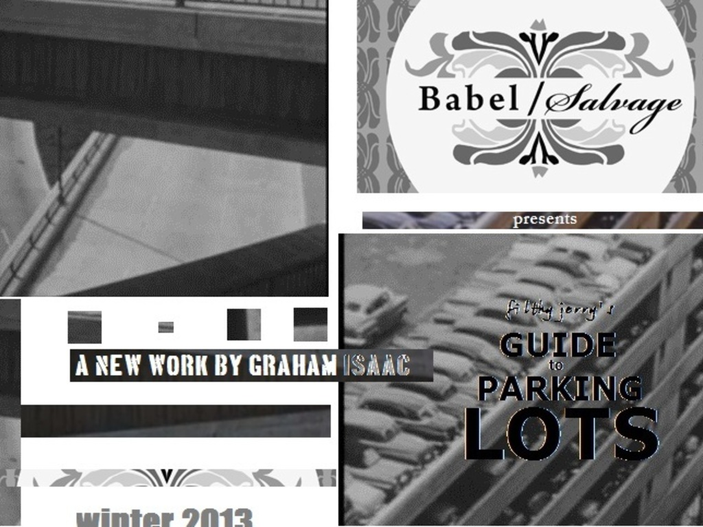 Babel/Salvage Presents: Filthy Jerry's Guide to Parking Lots's video poster