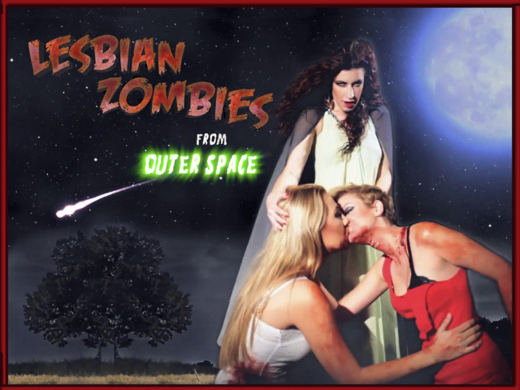 Lesbian Zombies from Outer Space's video poster