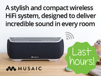 Musaic Wireless HiFi Music System - Your music, Your way.