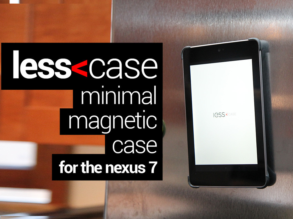 Less Case - Slim Google Nexus 7 Magnetic Case's video poster