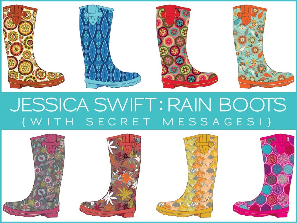 Jessica Swift: patterned rain boots (with secret messages!)'s video poster
