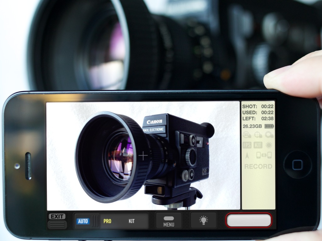 Unique in-camera film-making app: by 'straight 8' film comp.'s video poster