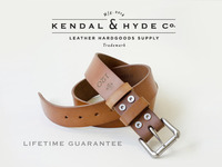 A leather belt to last a lifetime—two if you count the cow's