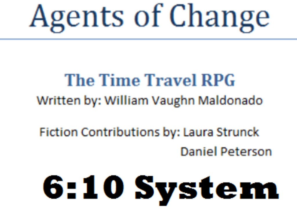 Agents of Change: The Time Travel RPG's video poster