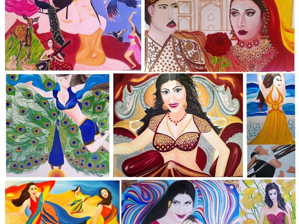 The Poetry of Being Woman - An exhibition of paintings's video poster