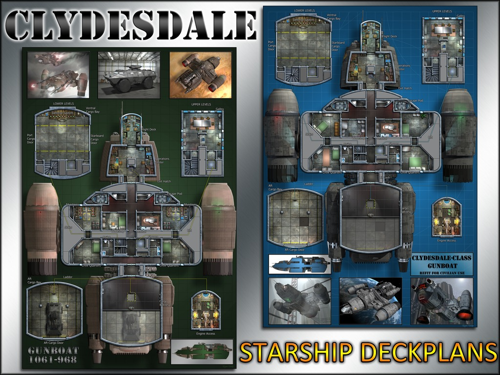 Clydesdale-class Transport: Starship Deckplans's video poster