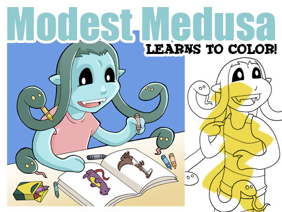 Modest Medusa Coloring Book!