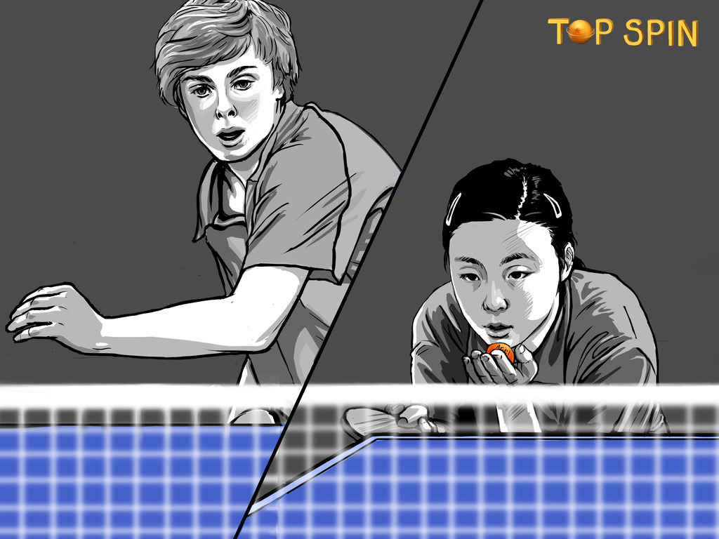 Top Spin, a ping pong documentary's video poster
