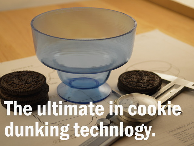 The ultimate in cookie dunking technology.