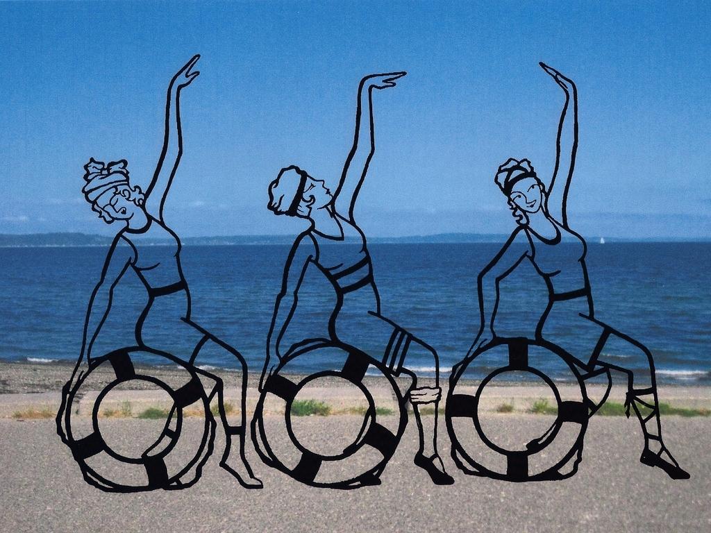 Luna Girls on Alki -   Public Sculpture's video poster