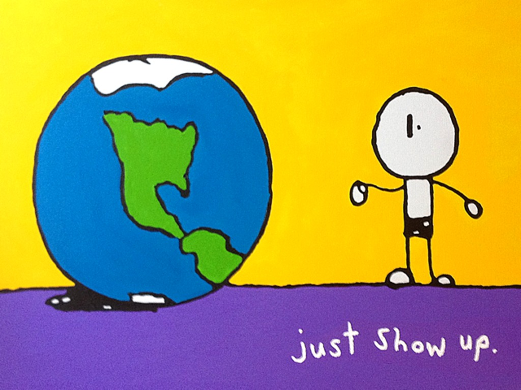 Just Show Up: 10 Paintings by Anon A. Mister's video poster