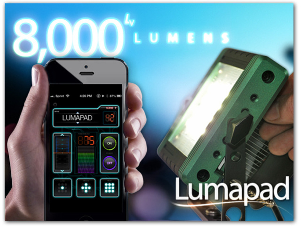 Open Source, Ultra-Bright LED Lumapad with WiFi & Arduino's video poster