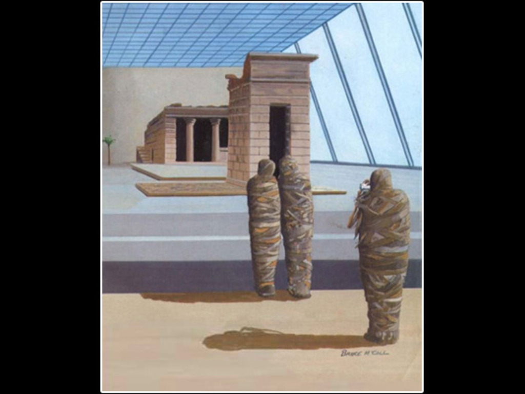Bruce McCall's LOVE IN THE TIME OF DENDUR's video poster