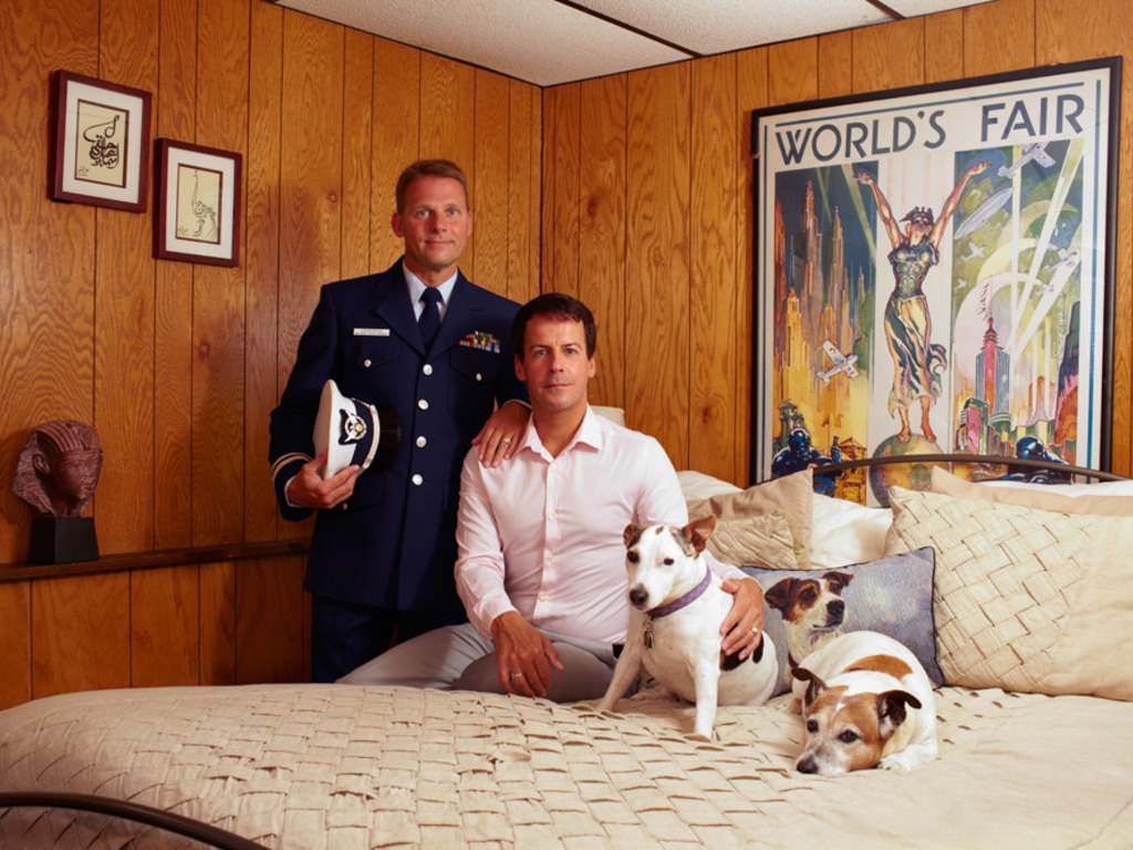Portraits of same-sex military couples's video poster