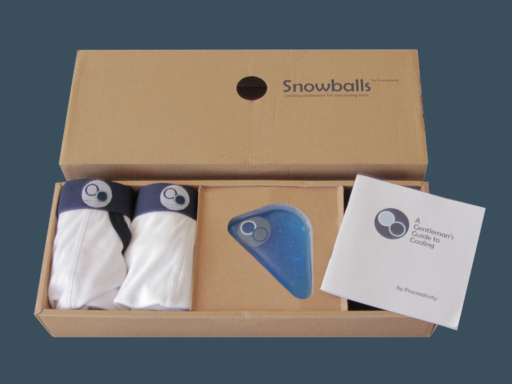 Snowballs: Cooling Underwear for Conceiving Men's video poster