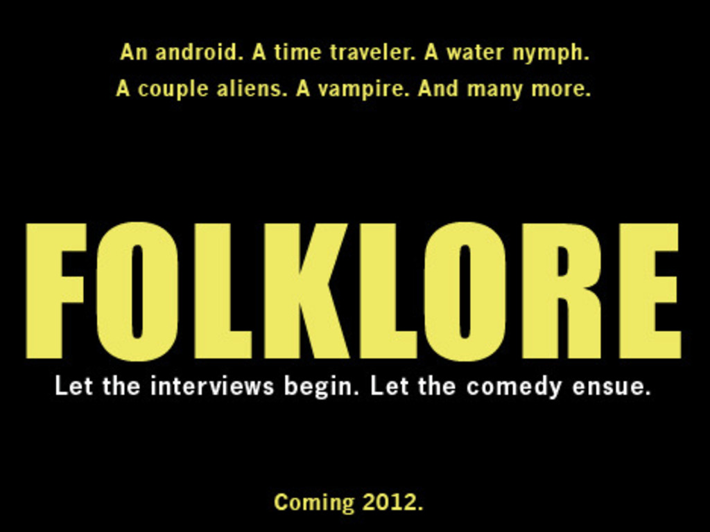 FOLKLORE: A COMEDY's video poster