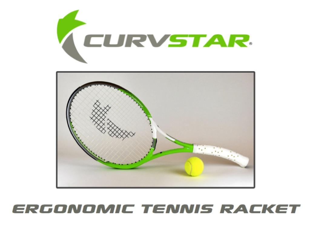 Curvstar - Innovative ergonomic tennis racket's video poster