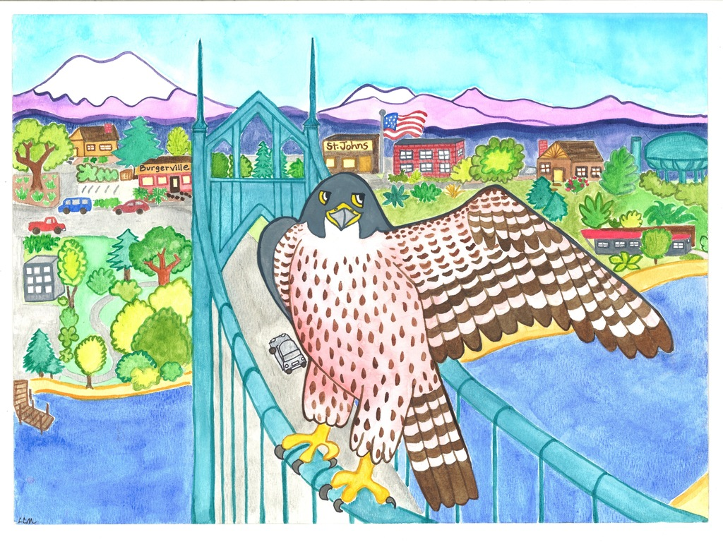 """Falcons in the City"" Children's Picture Book's video poster"