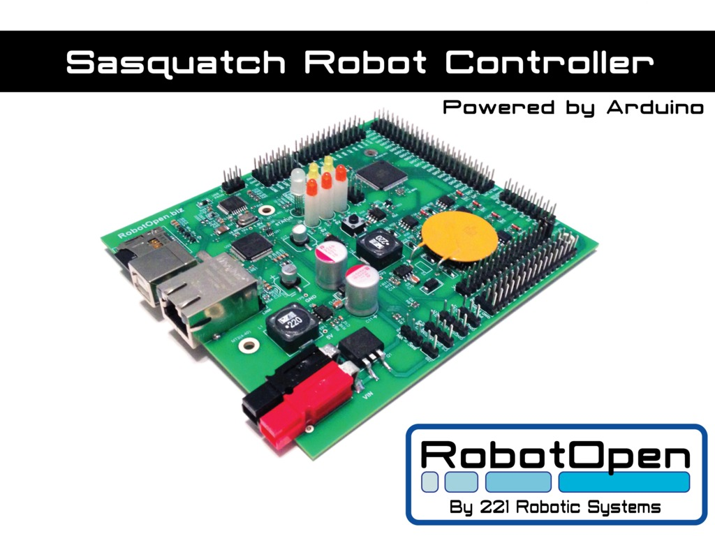 Sasquatch Robot Controller powered by Arduino's video poster