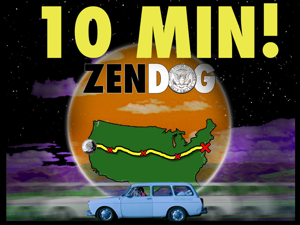 ZEN DOG - Watts featured road movie about chance & fate's video poster