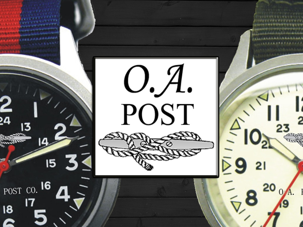 O.A. Post Co. - Swiss Watches with Patterned Nylon Bands's video poster