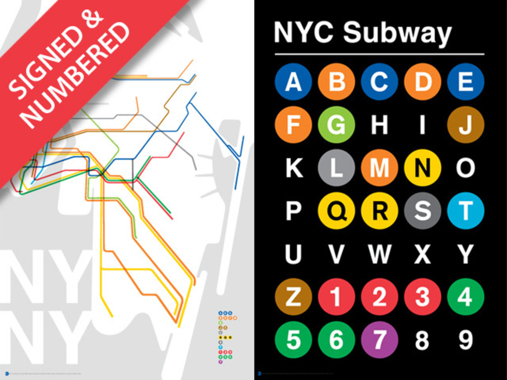 NYC Subway Poster Size Art Prints's video poster