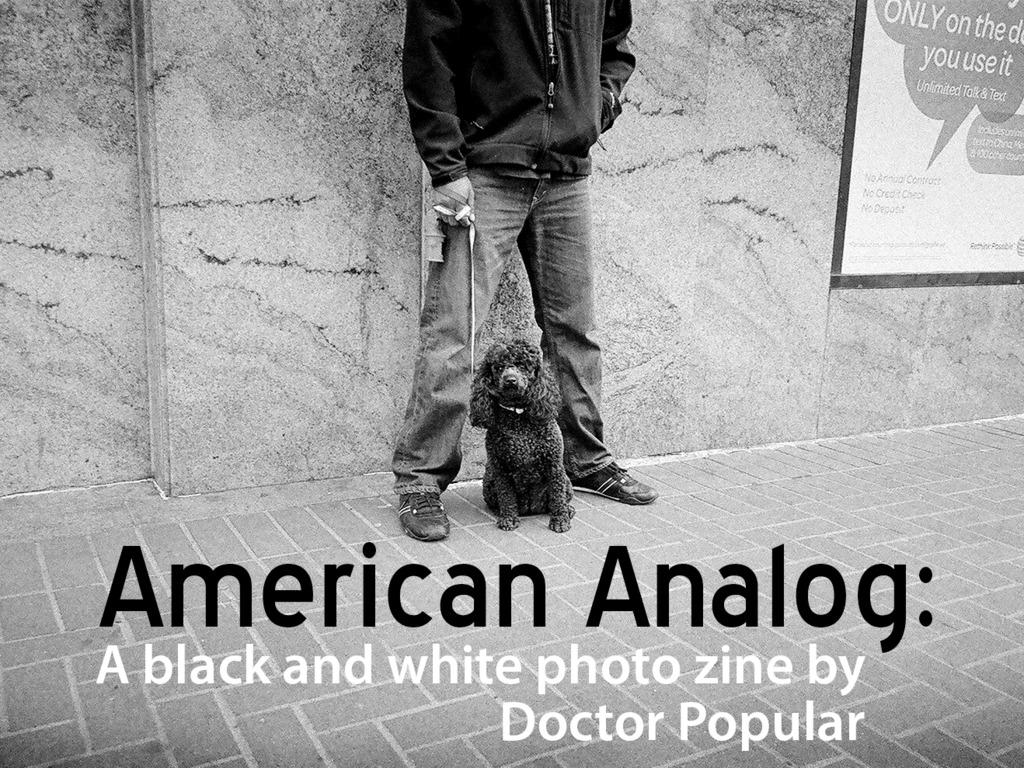 American Analog: a black & white photo zine's video poster