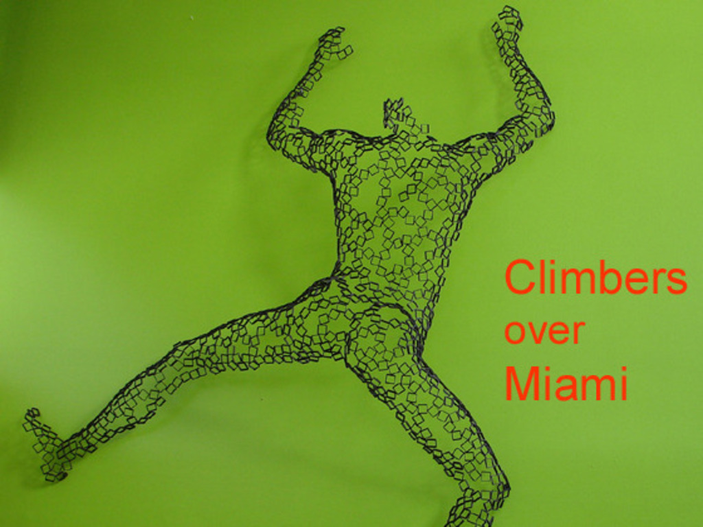 Climbers over Miami's video poster