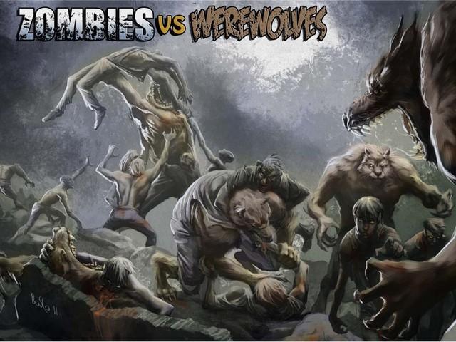 Zombies versus Werewol... Zombie Vs Vampire Vs Werewolf