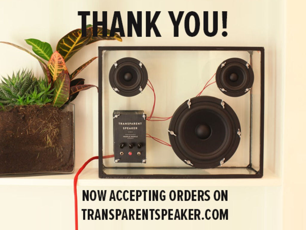 Transparent Speaker's video poster