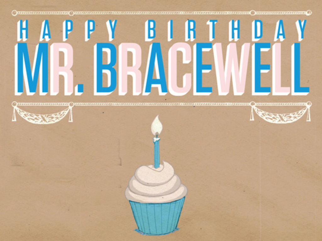 Happy Birthday Mr. Bracewell's video poster