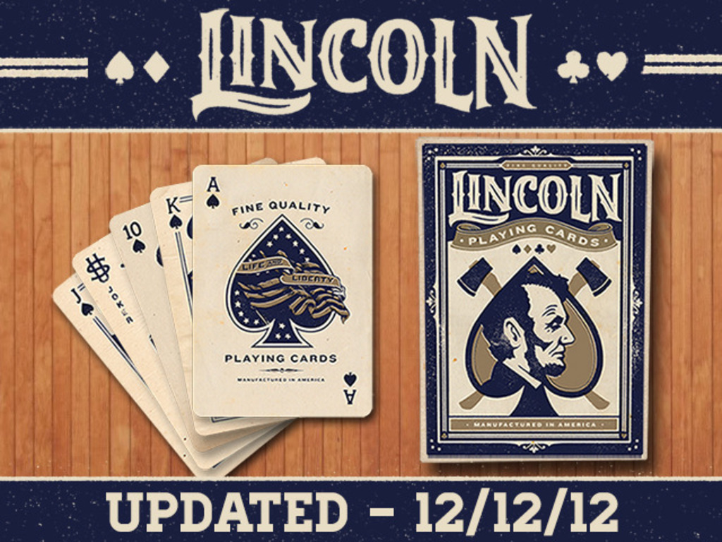 The Lincoln deck - Custom design playing cards - made in US!'s video poster