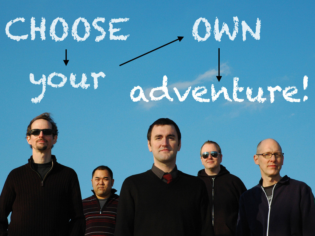 """Canadian Invasion's """"Choose Your Own Adventure"""" Album's video poster"""