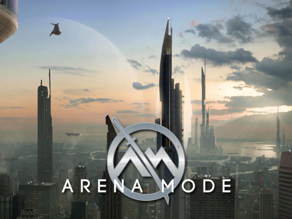 ARENA MODE - a sci-fi/superhero novel (plus a Tabletop RPG)'s video poster