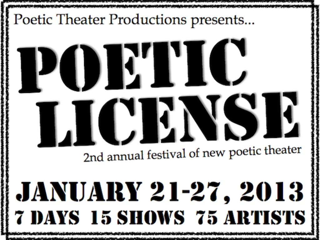 Poetic License 2013's video poster
