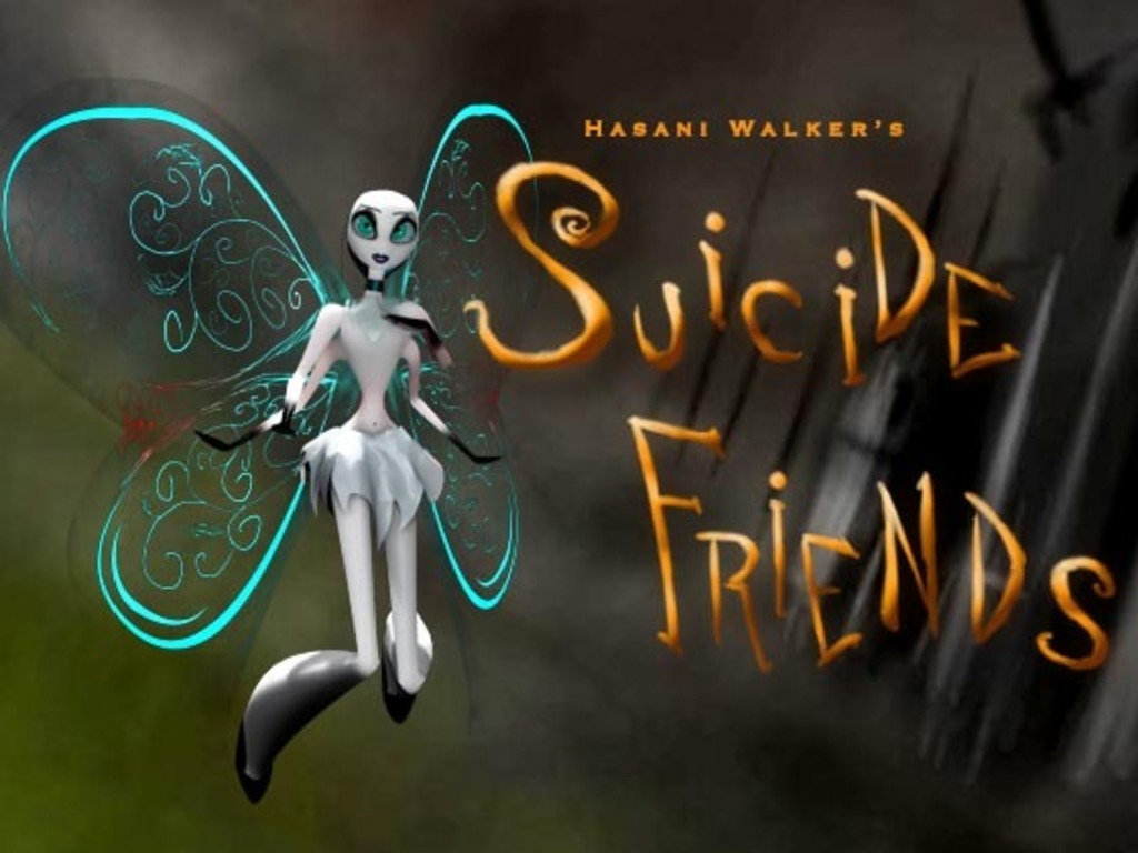"""Suicide Friends"" a dark animated tale's video poster"