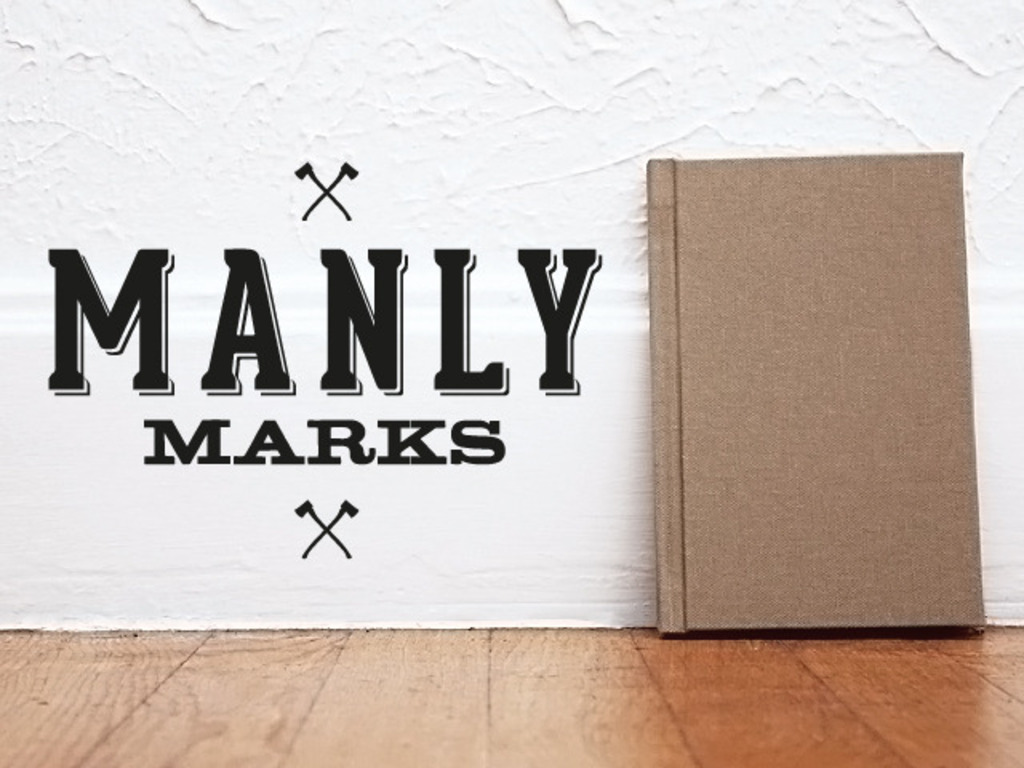 Manly Marks. A Letterpress Project's video poster