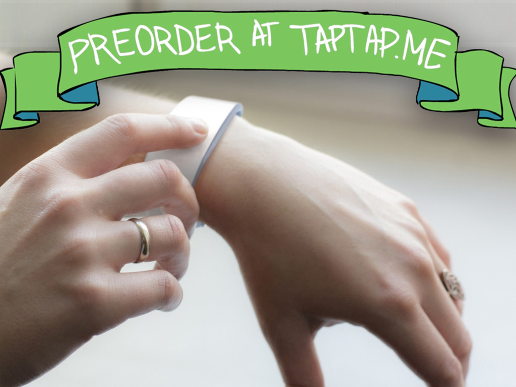 TapTap, a touch communication wristband's video poster