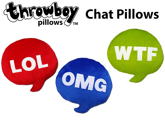 Throwboy Chat Pillows: Geeky throw pillows