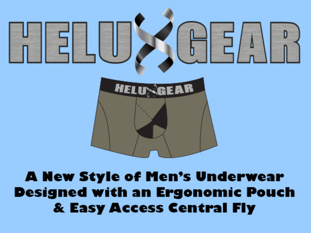 Helux Gear - Ergonomic Men's Underwear with Easy Central Fly's video poster